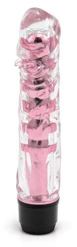Transparentní vibrátor, světle růžový