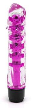 Transparentní vibrátor, fialový – Realistické vibrátory