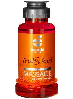 Hřejivá masážní emulze - meruňka/pomeranč – Erotické masážní oleje, gely a emulze