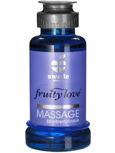 Erotické masážní oleje a emulze: Hřejivá masážní emulze - borůvka/černý rybíz