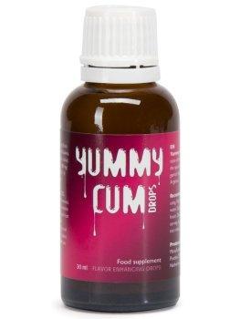 Kapky YUMMY CUM pro lepší chuť spermatu – Afrodiziaka pro muže