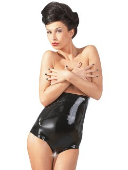 Vysoké latexové kalhotky s otevřeným rozkrokem – Latexové prádlo a oblečení pro ženy