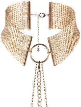 Obojek - náhrdelník Désir Métallique, zlatý – Úžasné ozdoby na krk a ozdobné obojky