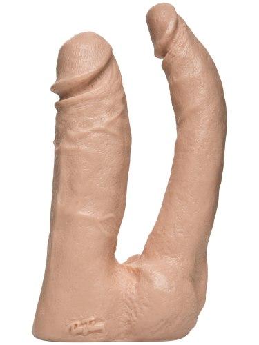 Realistická dilda: Dvojité realistické dildo Vac-U-Lock
