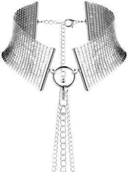 Obojek - náhrdelník Désir Métallique, stříbrný – Vzrušující intimní šperky, ozdoby a bižuterie