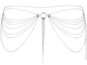 Ozdoba na boky Magnifique, stříbrná – Vzrušující intimní šperky, ozdoby a bižuterie