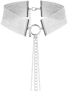 Obojek - náhrdelník Magnifique, stříbrný – Úžasné ozdoby na krk a ozdobné obojky