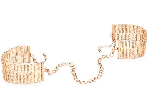 Vzrušující intimní šperky, ozdoby a bižuterie: Pouta - náramky Magnifique, zlatá
