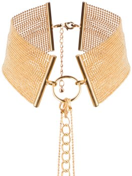 Obojek - náhrdelník Magnifique, zlatý – Vzrušující intimní šperky, ozdoby a bižuterie