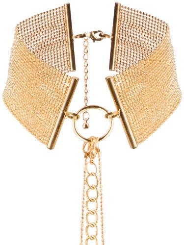 Vzrušující intimní šperky, ozdoby a bižuterie: Obojek - náhrdelník Magnifique, zlatý