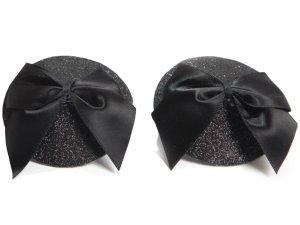 Ozdoby na bradavky Burlesque Bow – Samolepicí ozdoby na prsa a bradavky