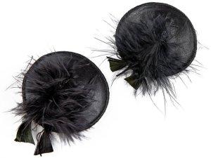 Ozdoby na bradavky Burlesque Feathers – Samolepicí ozdoby na prsa a bradavky