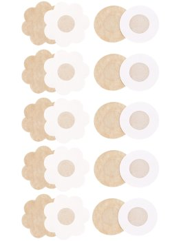 Diskrétní nálepky na bradavky, 5 párů – Samolepicí ozdoby na prsa a bradavky