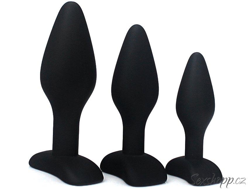 Silikonové anální kolíky - sada 3 ks