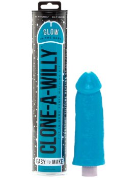 Odlitek penisu Clone-A-Willy Glow-in-the-Dark Blue - vibrátor – Odlitek penisu a vaginy