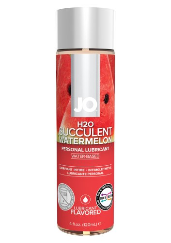 Lubrikační gely s příchutí a na orální sex: Lubrikační gel System JO H2O Vodní meloun