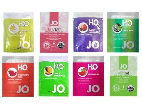 Degustační balíček lubrikačních gelů System JO - mix příchutí
