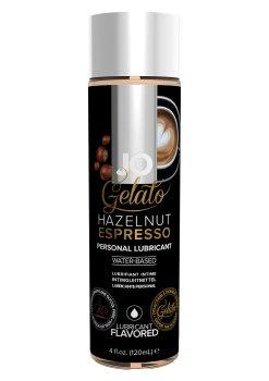 Lubrikační gel System JO Gelato Oříškové espresso – Lubrikační gely s příchutí a na orální sex