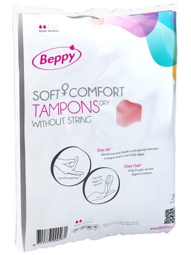Menstruační tampony (houbičky): Menstruační houbičky Beppy DRY - klasické, 10 ks
