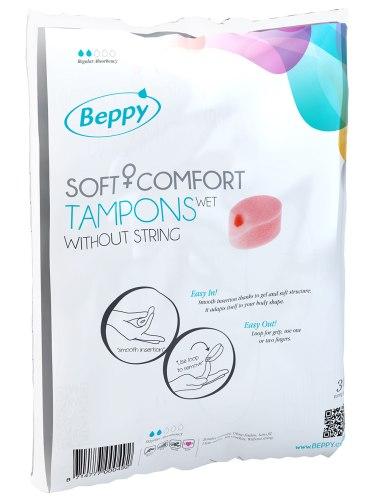 Menstruační tampony (houbičky): Menstruační houbičky Beppy WET - vlhčené, 10 ks