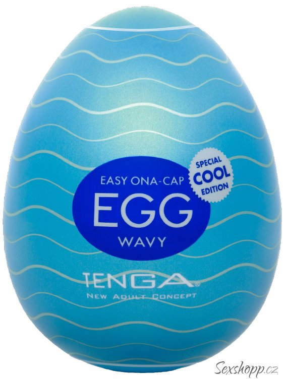 Masturbátor TENGA COOL Egg Wavy