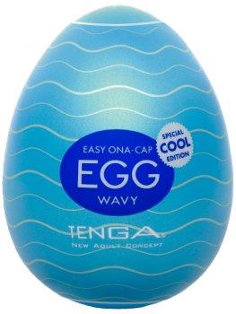 Masturbátory TENGA: Masturbátor TENGA COOL Egg Wavy