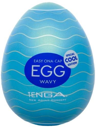 Masturbátory bez vibrací (honítka) - pro muže: Masturbátor TENGA COOL Egg Wavy