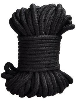 Lano na bondage, 20 m (černé) – Lana a pásky na bondage (svazování)