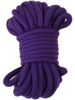 Pouta, lana a pásky na bondage (svazování): Lano na bondage, 20 m (fialové)