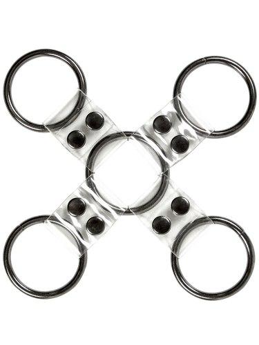 Pouta, lana a pásky na bondage (svazování): Transparentní poutací kříž Bare Bondage