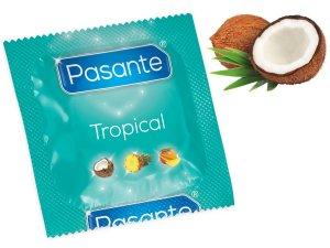 Kondom Pasante Tropical Coconut - kokos – Kondomy s příchutí