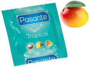 Kondom Pasante Tropical Mango – Kondomy s příchutí