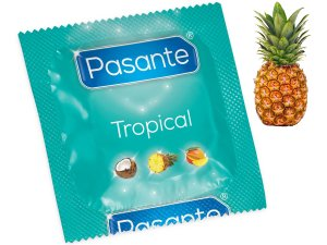 Kondom Pasante Tropical Pineapple - ananas – Kondomy s příchutí