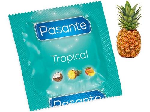 Kondomy s příchutí: Kondom Pasante Tropical Pineapple - ananas