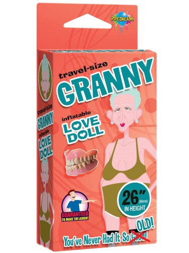 Nafukovací panny pro sex i zábavu: Nafukovací babička GRANNY (cestovní velikost)