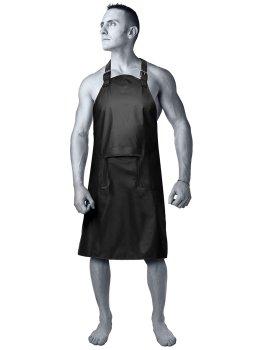 Nepromokavá unisex zástěra Master Apron – BDSM postroje, oblečení pro dominu, latex, kůže
