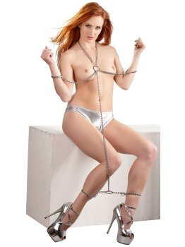 Řetízkový postroj Bad Kitty – Pouta, lana a pásky na bondage (svazování)