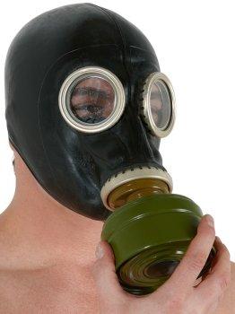 Latexová plynová maska – Erotické pomůcky z latexu