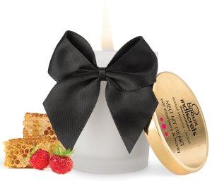 Masážní svíčka Melt My Heart - lesní jahody a med – Masážní svíčky