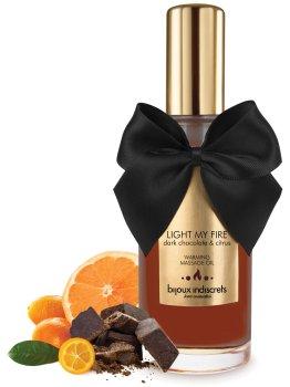 Hřejivý masážní olej Light My Fire - hořká čokoláda a citrus – Erotické masážní oleje, gely a emulze