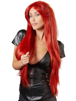 Paruka Miranda - dlouhá, červená – Paruky