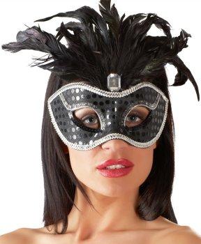 Škraboška s ozdobným peřím – Tajemné i vzrušující škrabošky, masky a čelenky