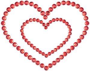 Samolepicí ozdoby na prsa MIMI Heart – Samolepky na prsa a bradavky
