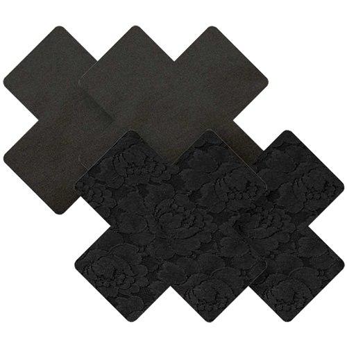 Samolepicí ozdoby na prsa a bradavky: Samolepicí ozdoby na bradavky Nippies Black Cross