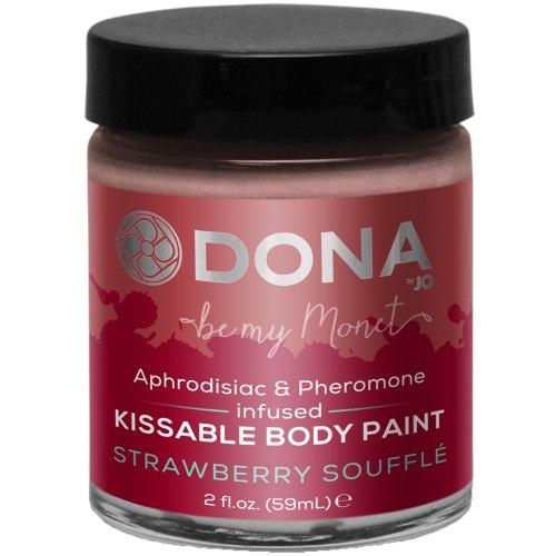 Bodypainting, malování na tělo: Slíbatelný bodypainting s afrodiziaky a feromony - jahodové soufflé