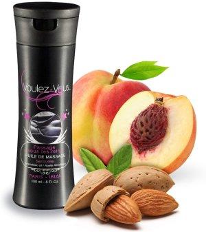 Luxusní masážní olej Voulez-Vous Mandle a broskev – Erotické masážní oleje, gely a emulze