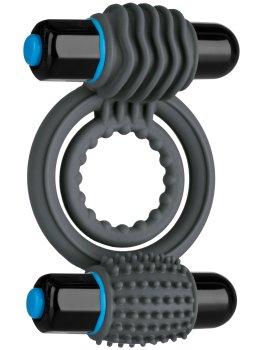 Dvojitý vibrační erekční kroužek OptiMALE – Vibrační kroužky na penis