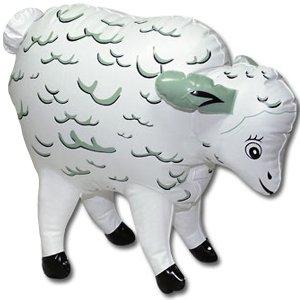Nafukovací mini-ovečka Storming Stella – Nafukovací zvířata, ovce, krávy