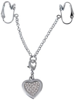 Ozdoba na stydké pysky s přívěškem ve tvaru srdíčka – Vzrušující intimní šperky, ozdoby a bižuterie