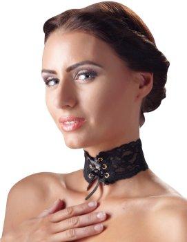 Ozdobný krajkový obojek se šněrováním – Úžasné ozdoby na krk a ozdobné obojky